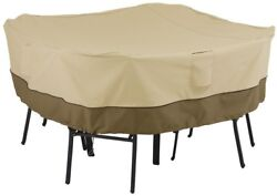 Patio Table And Chair Set Cover Medium Square Outdoor Furniture Accessory Beige