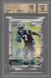 2015 Topps Chrome Mini Pulsar Refractor Devin Funchess Auto Rc # to 15 BGS 10 $249.95