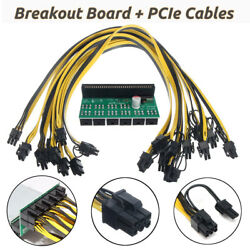 DPS1200 PSU Breakout Board 10X 6 Pin Cables 1200W GPU Ethereum ASIC BTC Mining $38.88