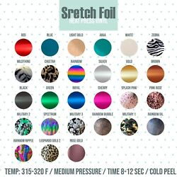 STRETCH Foil Heat Transfer Vinyl 20