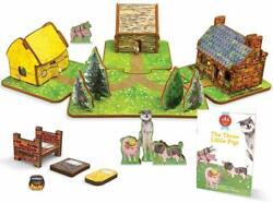Doll House 3 Little Pigs Toy Storybook Play Set Gift Boy Girl Toddler Gift NEW $42.50