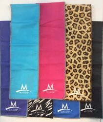 LOT OF 2 Mission EnduraCool Instant Cooling Gym Towels Wraps 6