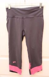 Under Armour Sz S Compression Running Capris Pink Ribbon she's a fighter Cancer