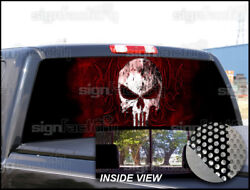 P95 Punisher Rear Window Tint Graphic Decal Wrap Back Pickup Graphics