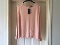 New M&S Plus Size 18 Flare Sleeve Button Back Jumper Curve Look Ladies Women's