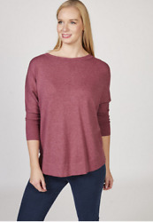 MarlaWynne Jumper with Back Button Detail Mulberry XS