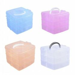 3Tier Plastic Clear Jewelry Bead Organizer Box Storage Container Case Craft Tool