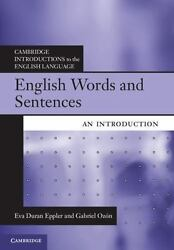 English Words And Sentences: An Introduction (cambridge Introductions To The ...