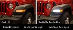 Switchback Turn Signal LEDs for 2018+ Jeep JL Wrangler Sport pair Diode Dynamics $59.95