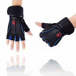XL Cycling Gloves Half Finger Biking Mountain Gloves Natural Rubber Anti slip $14.99