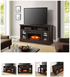 60 Inch TV Stand With Fireplace Media Console Electric Entertainment Center SALE