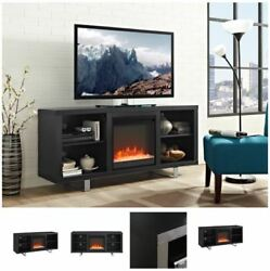 58 Inch TV Stand With Fireplace Media Console Electric Entertainment Center SALE