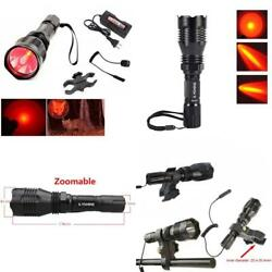 Tactical Red Hunting amp; Fishing Flashlight Lumens Cree Q5 Rechargeable Waterproof $55.37