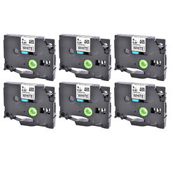 6PK Black on White Label Tape For Brother TZe-221 TZ-221 PT-1890W P-touch 9mm 8m