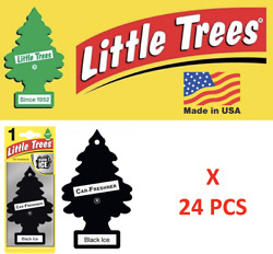 Black Ice Freshener Little Trees 10155 Air Little Tree MADE IN USA Pack of 24 $18.75