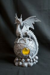 Home Decoration Artwork Hand Craft Engraving Western Dragon Statue Nordic Gothic