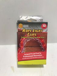 Commercial Christmas Hardware 12 Rope Light Clips MODEL: 854710 Lot Of 4