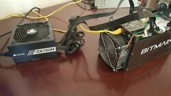 Bitmain Antminer S5 ASIC Bitcoin Miner **Used** with Corsair cx750 PSU. 1.1th