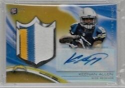 2013 Topps Platinum Gold Refractor Keenan Allen 4 Color Jersey Auto Rc # to 5 $179.95