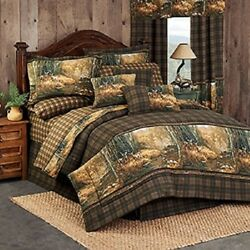 Whitetail Birch 3 Pc TWIN Comforter Set - Deer Cabin Tree Bedding Decor
