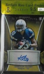 2013 Bowman Sterling Gold Refractor Keenan Allen Auto Rc #to 25 BGS 9.5 10AU RAW $39.95