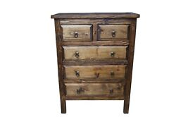 Victoria Rustic Bedroom Dresser 5 Drawers $929.00