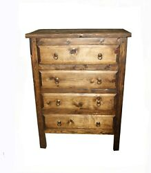 Victoria Rustic Bedroom Dresser 4 large Drawers $929.00