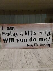 funny laundry sign rustic home decor hand made farmhouse primitive humor chic $12.99