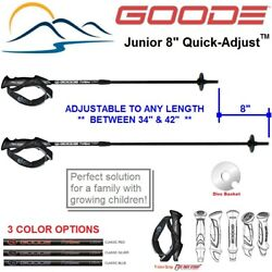 Adjustable Ski Poles 2019 Goode Jr Quick Adjust 34 42 inches $34.97
