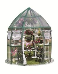 8-Ft Portable Pop-Up Plastic Plants Protection Nursery Garden Shed Greenhouse