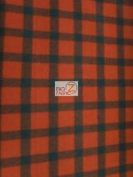 BUFFALO PLAID WOOL (PENDLETON) APPAREL FABRIC - RedBlack - BY THE YARD SEASONAL