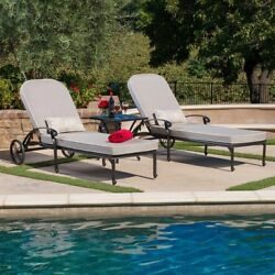 San Paulo 3 Piece Chaise Lounge Set Patio Outdoor Pool Wicker Furniture Garden