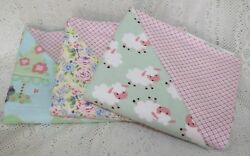 SET OF 3 Nursery Baby Reversible Receiving Blankets made w Snuggle Flannel - NEW