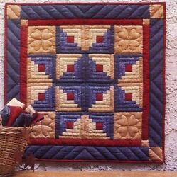 LOG CABIN STAR QUILT COMPLETE QUILTING KIT Fun Small Wall Quilt NEW