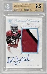2015 National Treasures Silver Holo David Johnson 3 Clr Auto Rc #to 25 BGS 9.5 $999.95
