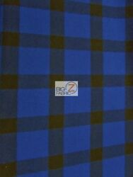 BUFFALO PLAID WOOL (PENDLETON) APPAREL FABRIC - BlueBlack - BY YARD SEASONAL