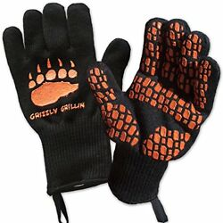 HEAT RESISTANT BBQ GRILLING COOKING GLOVES Perfect for Barbeque Oven Fireplace