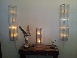ART DECO BAUHAUS FRENCH. TABLE DESK LAMP CLASSIC OCTAGON DESIGN21in x 6in !!!