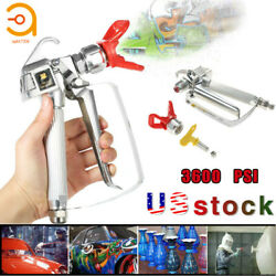 3600PSI Airless Paint Spray Gun with 517 Tip &Tip Guard For Sprayers US $20.99