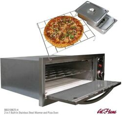 Pizza Oven Propane Warmer 2-in-1 Drop-In Stainless Steel Solid Outdoor Cooking