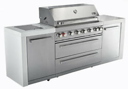Mont Alpi Gas Grill Outdoor Kitchen MAI805 Complete