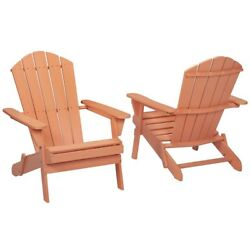 Nectar Folding Outdoor Adirondack Chair (2-Pack) Garden Terrace House