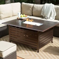 Propane Fireplace Outdoor Gas Fire Pit Table Top Patio Backyard Cooking  BBQ