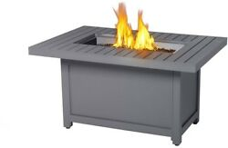 NAPOLEON 30 in. x 40 in. Hamptons Rectangle Patio flame Table Aluminum Fire