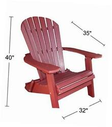 recycled poly resin folding deluxe adirondack chair ? durable and patio