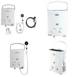 Portable Tankless Hot Water Heater Liquid Propane Gas Camping Outdoor Shower New