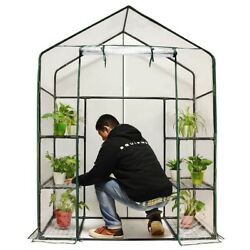 Quictent Greenhouse Mini Walk-In 3 tiers 6 shelves 102lbs Max Weight Capacity Po