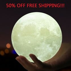3D Moon Lamp M30 USB LED Night Lunar Light Moonlight Touch Color Changing