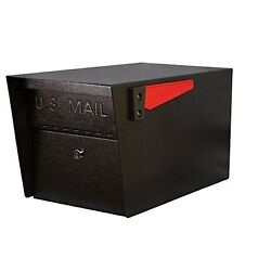 Locked Mailbox Organizer Outdoor Metal Curbside Heavy Duty Black Residential Set
