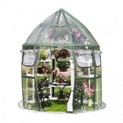 Big Green House Metal Frame Portable Flowerhouse Conservatory Plant Growing Kit